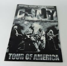 CSNY Tour of America Program Crosby Stills Nash and Young