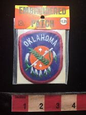Vtg In Pkg OKLAHOMA Flag Theme Patch Emblem Native American Indian Themed 74QQ