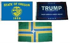 3x5 Trump #1 & State of Oregon & City of Portland Wholesale Set Flag 3'x5'