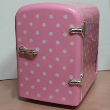 Mini Portable Refrigerator 4Liter Mini Cosmetic Fridge Cooler Warmer-Pink Dots