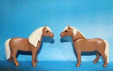 Playmobil 2  Brown Ponies - Horses
