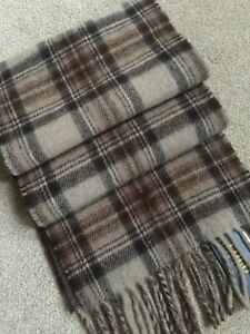 POLO RALPH LAUREN REVERSIBLE CHECK SCARF MADE IN ITALY BNWT