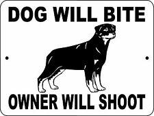 "ROTTWEILER  DOG SIGN, 9""x12""  ALUMINUM,Guard Dog sign,Security,Decal,dwbowsrott"
