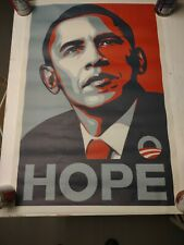 OBAMA HOPE : OFFICIAL CAMPAIGN PASTER : OBEY : SHEPARD FAIREY : 2008