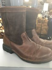 Mens UGG Leather & Sheepskin Ankle Boots Size 10