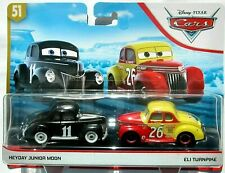 DISNEY PIXAR CARS HEYDAY JUNIOR MOON & ELI TURNPIKE 2 PACK