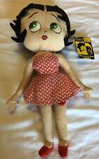 "Betty Boop Kelly Toy Valentine Collection Doll 16.5"" Heart Printed Dress"