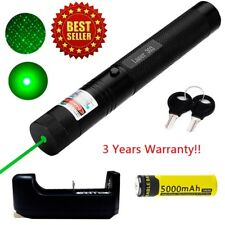 10Miles 532nm 303 Green Laser Pointer Lazer Pen Visible Beam Light+18650+Charger