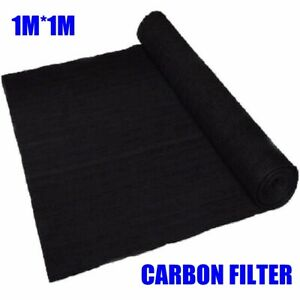 1m*1m*3mm Fish Tank Activated Carbon Filtration Foam Sheet Filter Sponge Pad