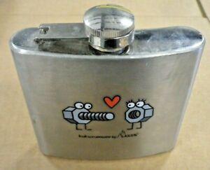 Stainless Steel 5oz Hip Flask Kukuxumusu by Laken
