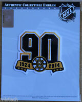 NHL Patch Boston Bruins 1924 - 2014 90th Anniversary Official Licensed