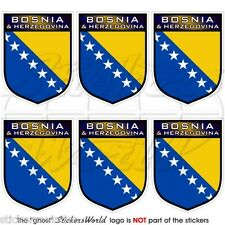 BOSNIA & HERZEGOVINA Shield 40mm Mobile Cell Phone Mini Stickers, Decals x6