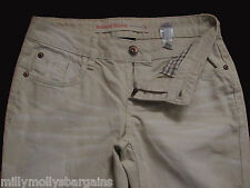New Womens Beige Relaxed Skinny NEXT Jeans Size 8 Regular LABEL FAULT