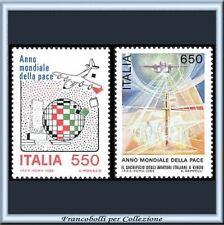 1986 Italia Repubblica Anno Mond. Pace n. 1789/1790 **