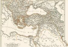 Echte 171 Jahre alte Landkarte der TÜRKEI Osmanlı İmparatorluğu Kurdistan 1846