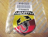 FIAT 500 ABARTH  New 100 % GENUINE Front Grille Bumper Badge Emblem 735496478