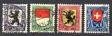 Switzerland - 1924 Pro Juventute: Coats of arms Mi. 209-12 FU