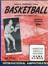 1947 (1/19) basketball program Chicago Gears v Baltimore, Converse Chuck Taylor