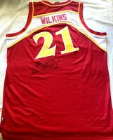 Dominique Wilkins signed autographed Atlanta Hawks jersey + Human Highlight Film