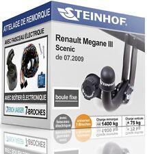 ATTELAGE fixe RENAULT MEGANE III SCENIC de 2009+FAISC.UNIV. 7broches