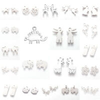 10Pcs/20Pcs 304 Stainless Steel Animal Themes Charms Pendants For Jewelry Making