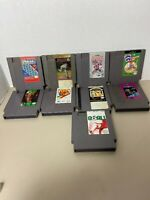 Nes Game Lot Of 9 Magmax Tecmo Bowl Roger Clemens magamx and more