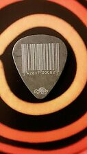 SLIPKNOT Mick Thomson #7 2012 tour bar code black guitar pick
