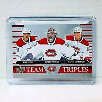 2020-21 Upper Deck NHL Series 1 Hockey Team Triples Montreal Canadiens TT-M1