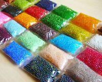 500g Rocailles Perlen 2mm Glasperlen Schmuckherstellung 25 Farben Mix Posten AM9