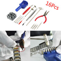 16pc Watch Repair Tool Kit Band Pin Strap Link Remover Back Opener