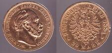 20 Mark 1884 Kaiser Wilhelm I. - Deutsches Reich - Original Gold Münze - 0377
