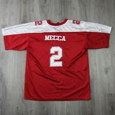 Mens Vintage Mecca Spell Out Football Jersey Top M Shirt RARE 90s Hip Hop