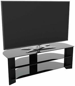 AVF Wood Effect Up To 65 Inch TV Corner Stand - Black