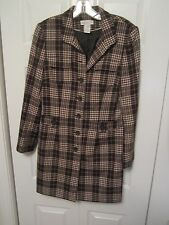 Women's Worthington Plaid Jacket ~ Multi Color ~ Size 6