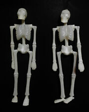 "HALLOWEEN HANGING SKELETONS (GLOW IN THE DARK) MOVEABLE ARMS AND LEGS 16""LONG"