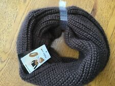 Brown knitted snood / scarf by Hallmark