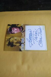 GEORGE TAKEI  2020 RITTENHOUSE STAR TREK TOS ARCHIVES & INSCRIPTIONS AUTOGRAPH