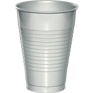 Bulk Silver Plastic Cups, 240ct