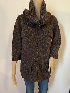 LES COPAINS wool/alpaca blend zip cardigan knit
