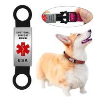 ESA Emotional Support Animal Dog Pet Personal Tag Slide-on Attaches to Collar