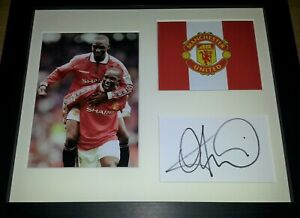 ANDY COLE MANCHESTER UNITED LEGEND SIGNED DISPLAY + COA
