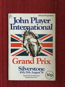 John Player International Grand Prix Silverstone Programme, 10-11 August 1974