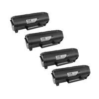 4PK 50F1X00 501X Toner for Lexmark BLACK Extra Hi-Yield MS610 MS410d MS510 MS610