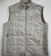 $1305 New LUCIANO BARBERA Linen Quilted Sport VEST Sleeveless Jacket IT-54 L