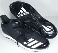 NWOB ADIDAS MEN'S ICON BOUNCE TPU BASEBALL CLEATS BLACK LOW TOP LACE UP SIZE 16