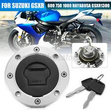 Gas Fuel Tank Cap Cover + 2 Keys For SUZUKI GSXR 600 750 1000 Hayabusa 97-03 US