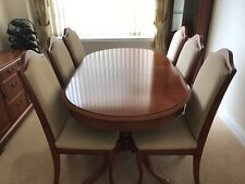 White And Newton Extending Dining Table, 6 Chairs, Sideboard And Corner Unit