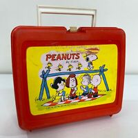 Peanuts by Schulz Vintage 70s United Feature Syndicate Plastic School Lunchbox