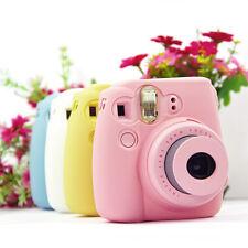 Linda cámara noctilucentes silicona caso cubierta para FUJI Instax Mini8/8s/9 H