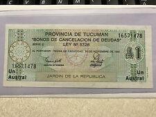 Argentina 1 Austral 1991 Provincia de Tucuman Unc. #3869